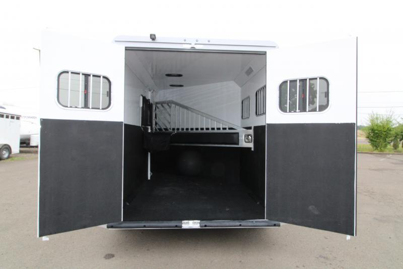"""2020 Trails West Sierra Select 2 Horse Bumper Pull Trailer - UPGRADE - 7'6"""" Tall  - Vacuum Bonded Aluminum Construction - Fully Lied and Insulated"""