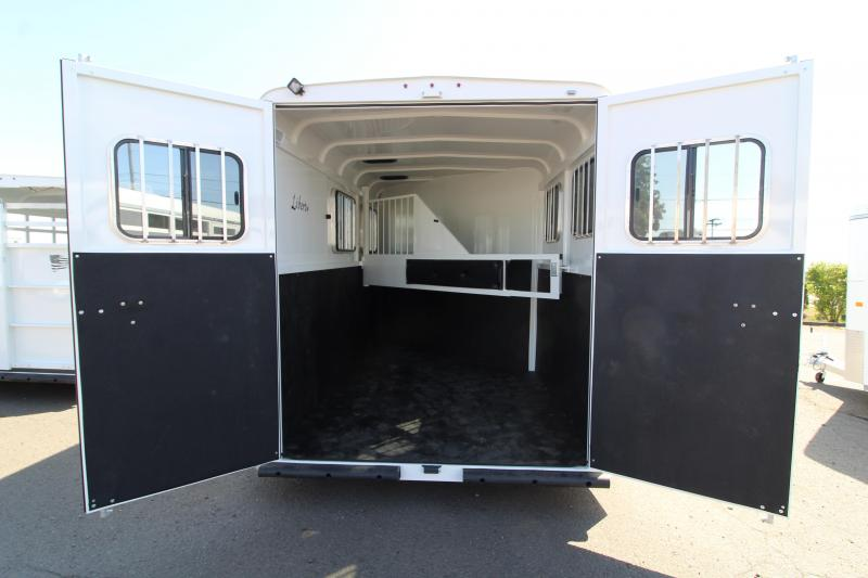 """2020 Thuro-Bilt Liberty 2 Horse Trailer - Added Height 7'6"""" Tall - Swing Out Saddle Rack - Drop Down Head Side Windows"""