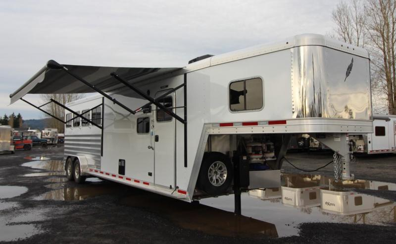 2020 Featherlite 7841 Liberty SE 10' Short Wall Living Quarters 4 Horse Trailer