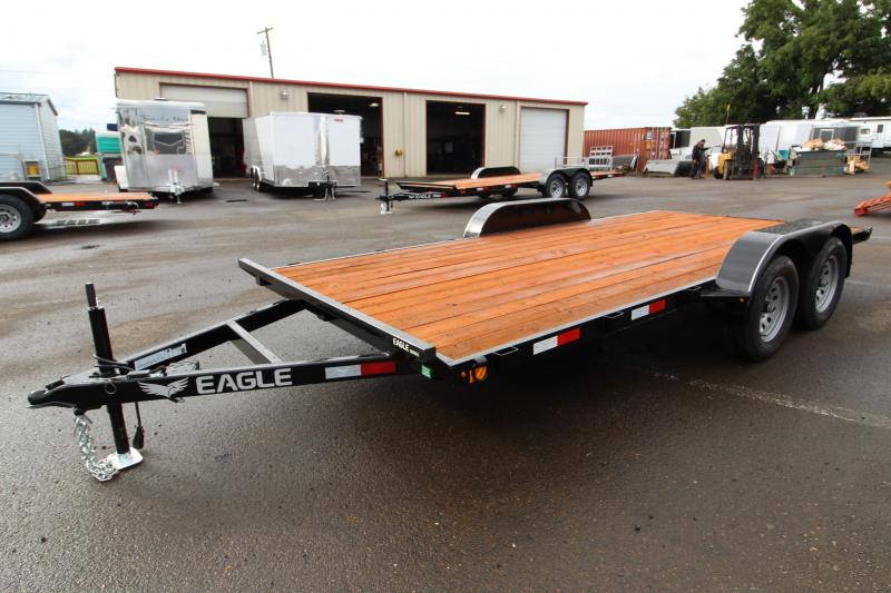 2020 Eagle Trailer 7x16 Tandem axle Flatbed Trailer - 7k - Ramp storage - Ramps - Brakes on both axles -  4 D rings -  Pressure treated decking