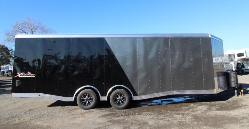 2020 Mirage Xtreme Sport Deluxe - 8.5x28 TA Snowmobile Trailer - Beavertail -  Rear ramp door - Deluxe sports package