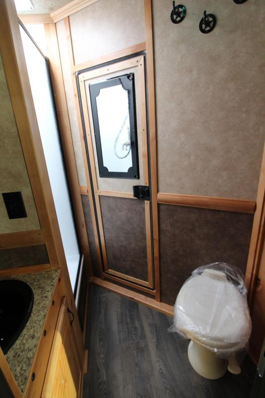 2019 Trails West Sierra 10' x 15' Living Quarters 3 Horse Trailer PRICE REDUCED - Hoof Grip Flooring - One Piece Aluminum Roof - Electric Awning