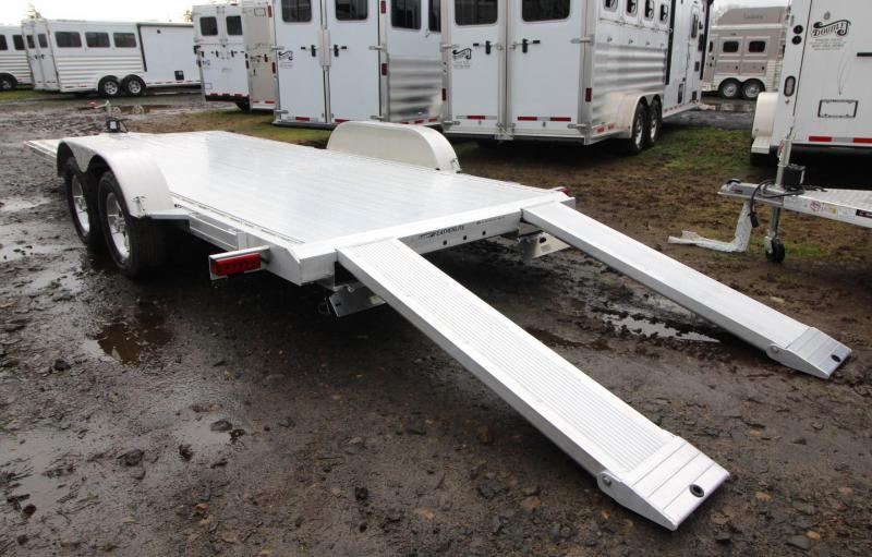 2020 Featherlite 3182 - 18ft Aluminum Flat Bed Car Trailer