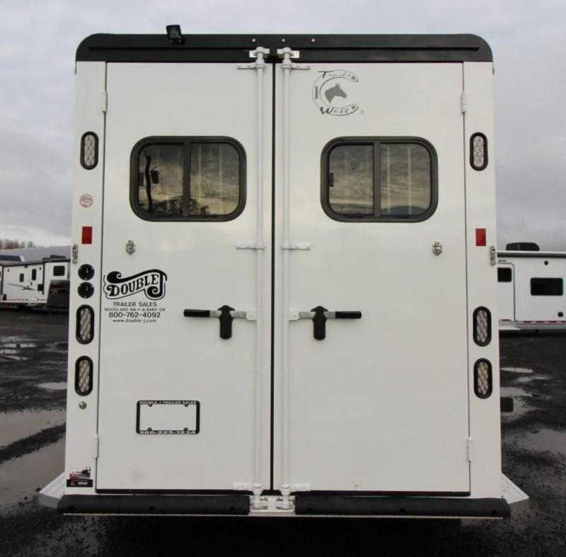 "2020 Trails West Sierra Select 7'6"" Tall 3 Horse Trailer Seamless Aluminum Vacuum Bonded Walls & Roof"