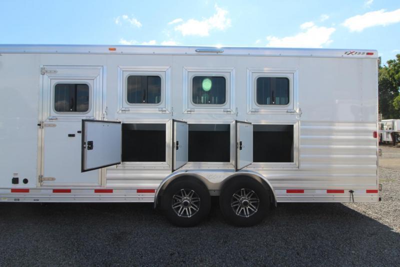 2019 Exiss Endeavor 8412 w/ Slide 4 Horse Living Quarters Trailer - Easy Care Flooring - All Aluminum - PRICE REDUCED