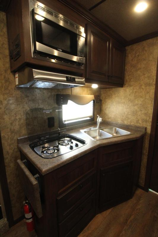 2019 Exiss 8412 w/ Slide 4 Horse Living Quarters Trailer - Easy Care Flooring - All Aluminum - Insulated Ceiling & Upgraded Interior - PRICE REDUCED $5800