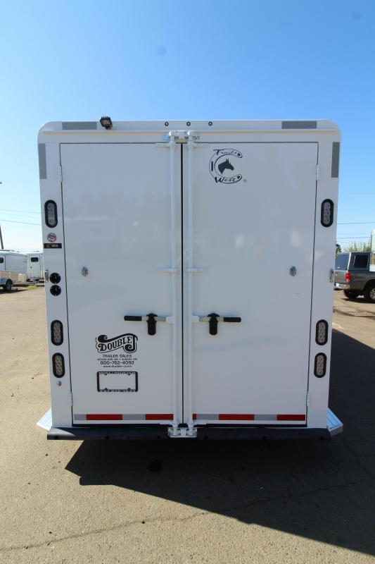 """2020 Trails West Classic 3 Horse Trailer - Upgraded Comfort Package -  First Stall Escape Door - Extra Tall 7'6"""""""
