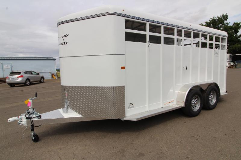 2020 Thuro-Bilt Wrangler 17' Steel Livestock Trailer - Upgraded Rear Combo Slider Gate - LED Load Light
