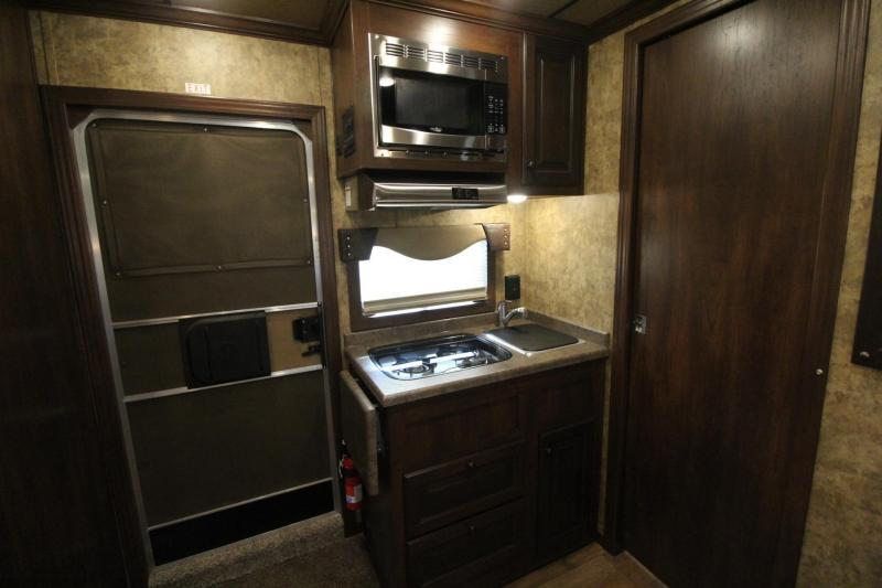 2019 Exiss Escape 7410 Living Quarters w/ 10' Short Wall - Slide Out - Easy Care Flooring - Dinette - Lined & Insulated Ceiling - 4 Horse Trailer PRICE REDUCED $4300