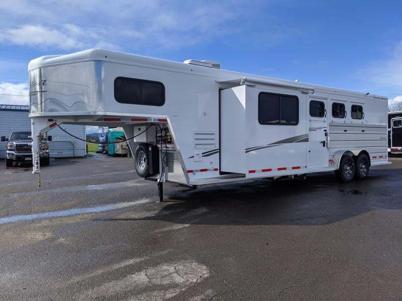 2020 Trails West 12' x 12' LQ 3 Horse Trailer - Easy Care Flooring - Side Tack-Slide Out - Power Awning Upgrade - Lined and Insulated Horse Area - Escape Door  - Stud Divider PRICE REDUCED $1300!