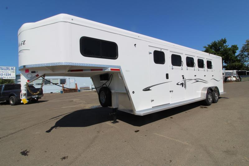 "2020 Trails West 4 Horse Classic Super Tack - 7'6"" Tall - Side Escape Door - CHECK OUT THIS TACK ROOM!!"