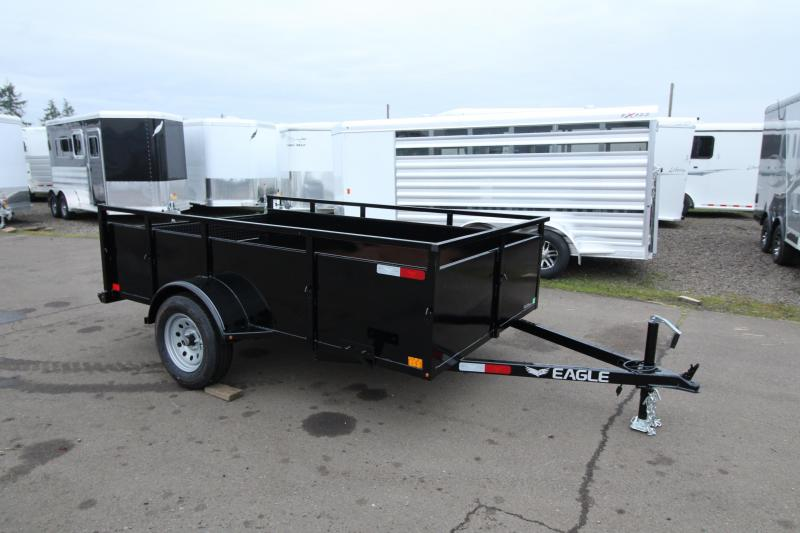 2020 Eagle 6' x 10' Lightspeed Utility Trailer- Detachable rear ramps-  Spare tire - Spare tire and mount