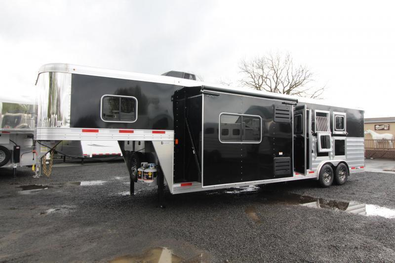 2019 Exiss Trailers Endeavor 8312 Horse Trailer W/ 12' SW  Slide - Easy Care Flooring PRICE REDUCED $5300