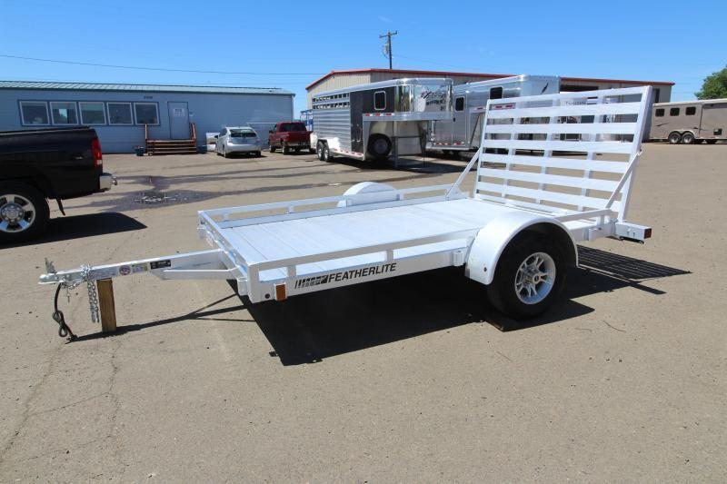 2019 Featherlite 1693 Flatbed Utility 10' Trailer w/ Ramp - All Aluminum REDUCED 10-5
