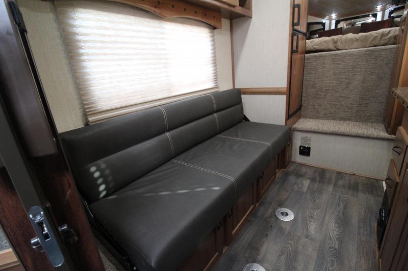 2020 Trails West Trails West Sierra 12x12 LQ Side Tack 3 Horse Trailer-Swing Out Saddle Rack- Hoof Grip Flooring-Couch- Escape Door