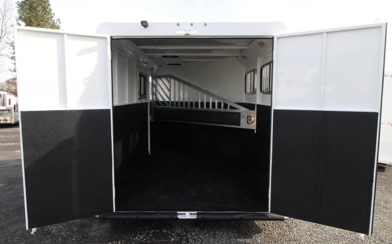 2019 Trails West Classic II 2 Horse Trailer - Steel Frame Aluminum Skin