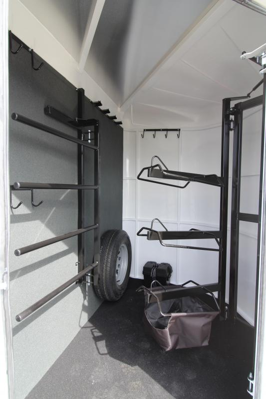 NEW 2019 Trails West Sierra 2 Horse Trailer - Convenience Package - 7' Tall and Wide - Swing Out Saddle Rack