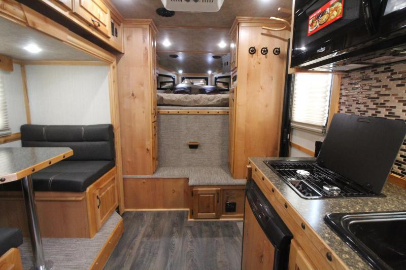 2020 Trails West Sierra 8x13 Living Quarters 3 Horse Trailer W/ Slide out - Power Awning - Folding Rear Tack