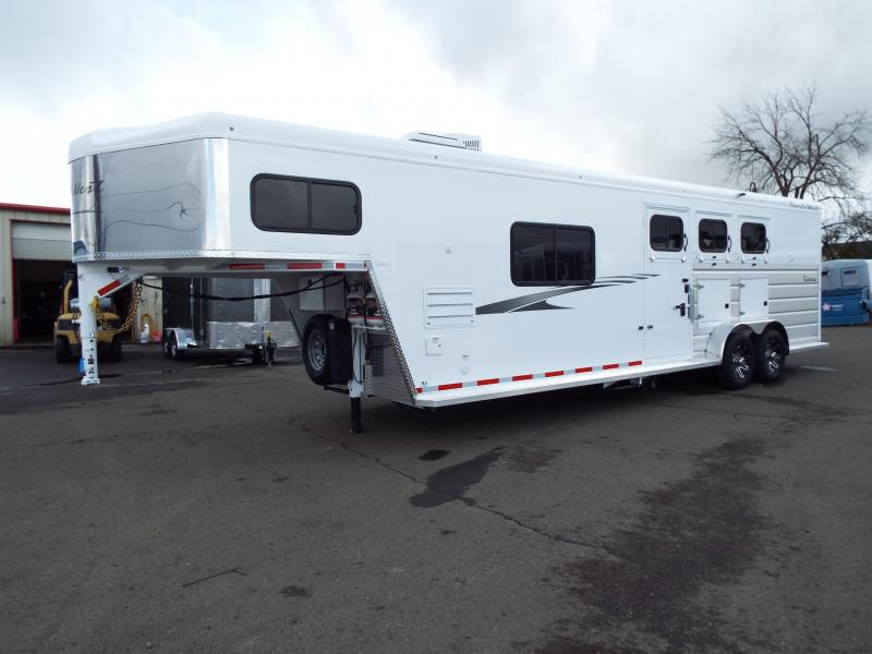 2020 Trails West Trails West Sierra 3H 10x15 LQ Horse Trailer