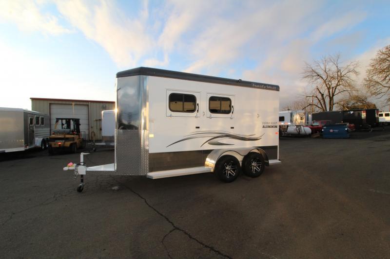 2020 Trails West Sierra  2 Horse Trailer - Drop Down Feed Doors - Dome Lights -  Slam Latch Dividers