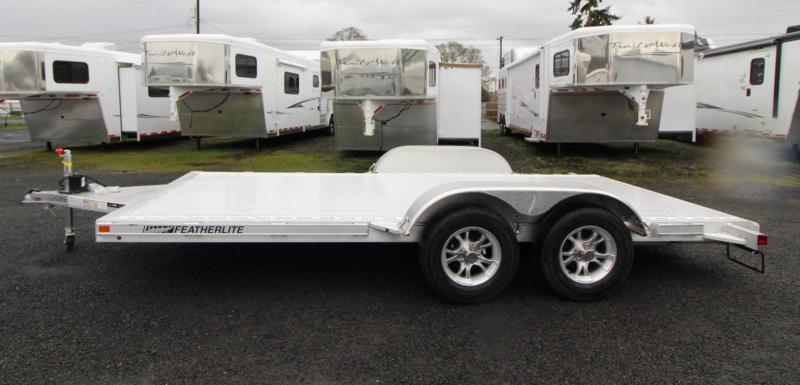 2020 Featherlite 3182 - 16ft Car / Racing Flatbed Aluminum Trailer