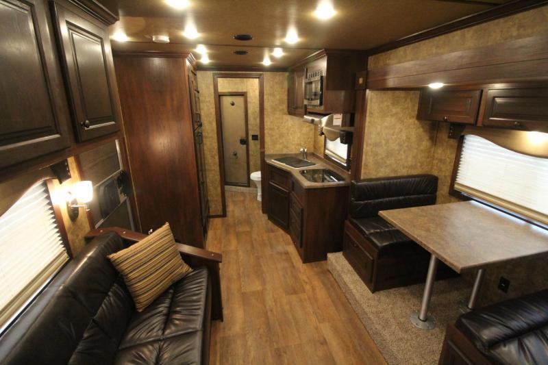 2019 Exiss 8414 - 14' Short Wall Living Quarters Horse Trailer - Upgraded Interior & Insulated Horse Ceiling - Couch & Dinette - 8000 lb Axles -  PRICE REDUCED $6075