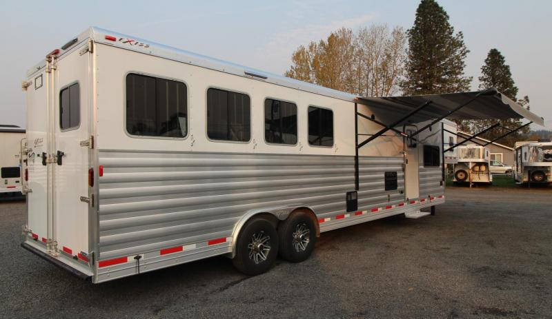 2019 Exiss Endeavor 8414 - 14' sw Living Quarters Horse Trailer - Couch & Dinette - 8000 lb axles - All aluminum construction PRICE REDUCED $2075