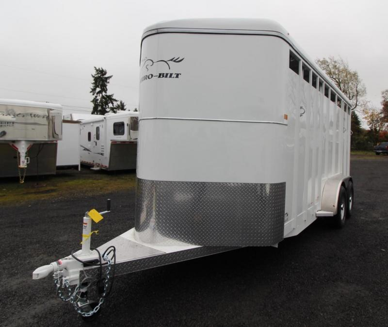"2020 Thuro-Bilt Wrangler 7' 6"" Tall 3 Horse Trailer w/ Swing out Saddle Rack and Swinging Tack Wall - Upgraded Large Stalls"