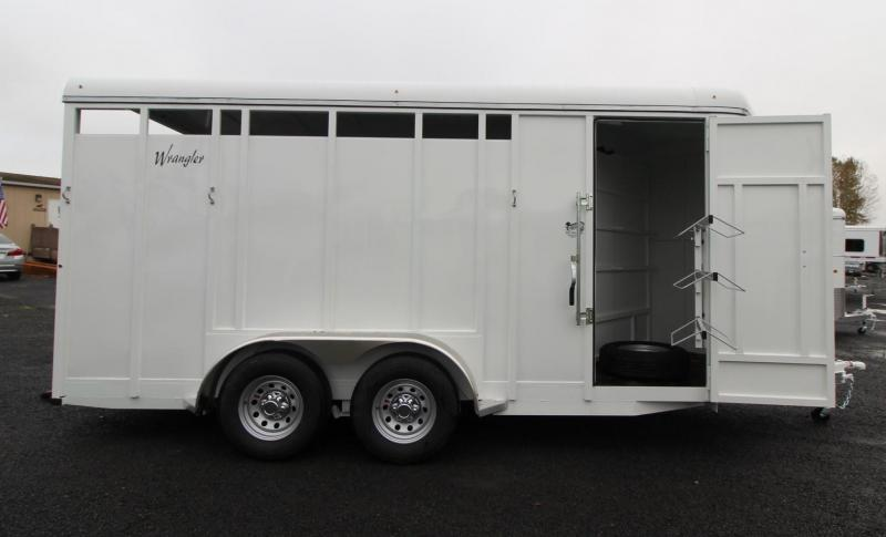 "2020 Thuro-Bilt Wrangler 7' 6"" Tall 3 Horse Trailer w/ Swing out Saddle Rack and Swinging Tack Wall"