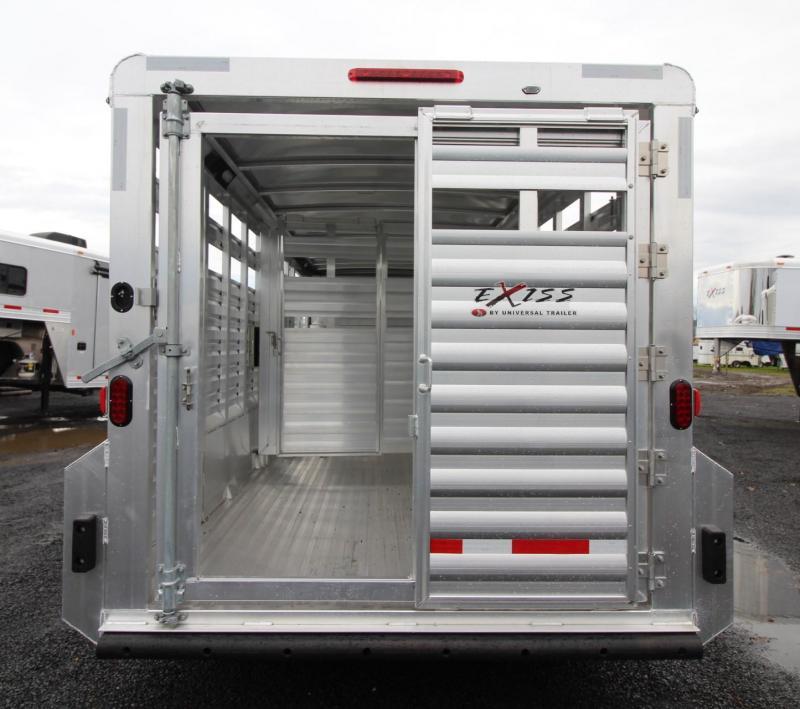 2019 Exiss STK 7020 Aluminum Livestock Trailer-PRICE REDUCED $1500  - Center sort gate -  Slam latch