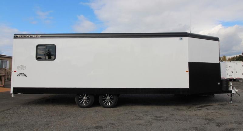 2020 Trails West RPM 28ft Burandt Edition Snowmobile Trailer w/ Power Ramp
