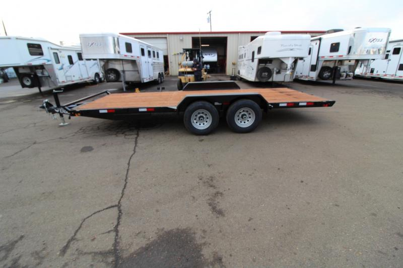 2020 Eagle 7' x 18' Flatbed Trailer - Upgraded Axles - Spare Tire and Mount - Pressure Treated Wood Decking