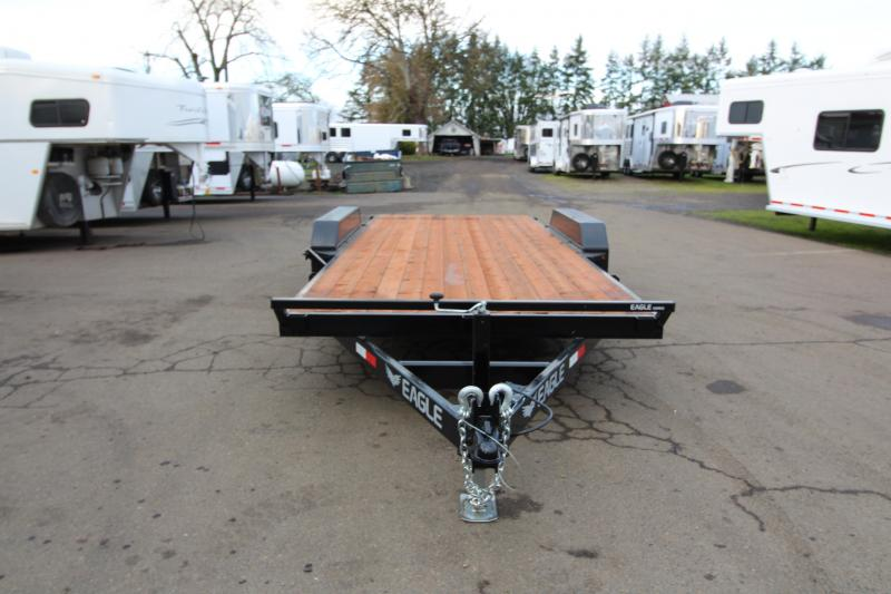 2020 Eagle 7' X 16' Flatbed Trailer - Upgraded Axles - Spare Tire and Mount