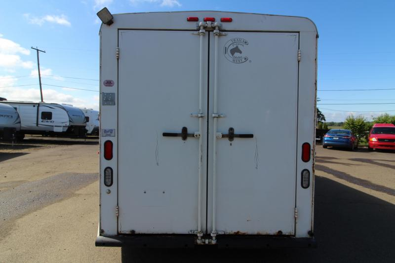 2000 Trails West Santa Fe 3 Horse Gooseneck Trailer - Drop Down Windows Head Side - Awning - Swing Out Saddle Rack