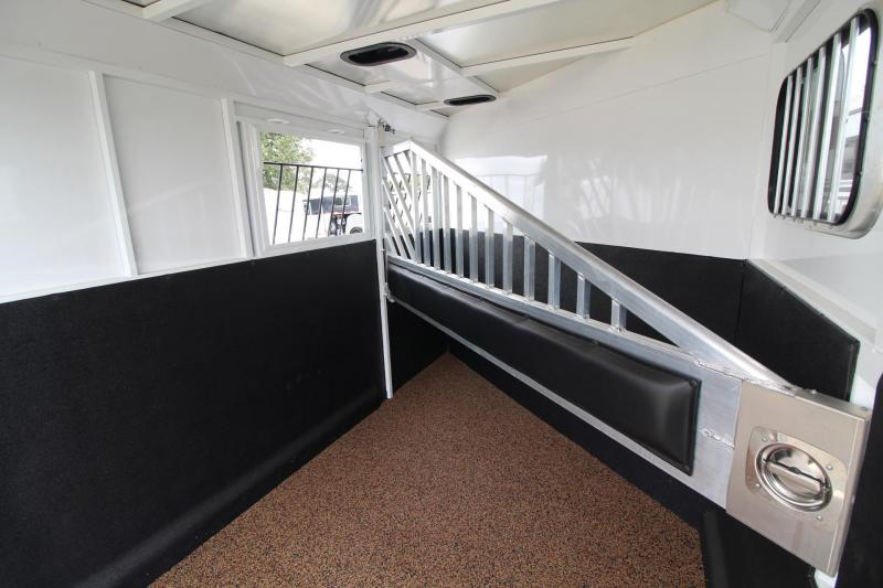 2019 Trails West Classic II 2 Horse Trailer - Hoof Grip Flooring - Steel Frame Aluminum Skin - Convenience package