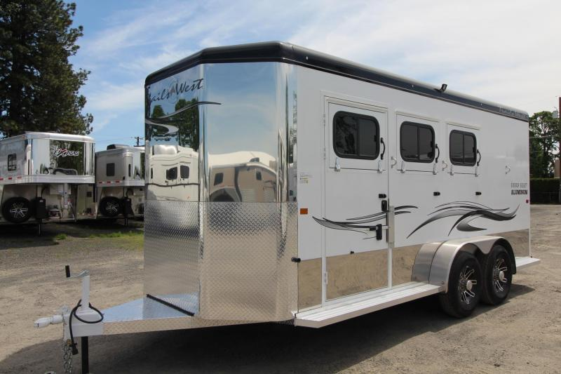 "2020 Trails West Sierra Select 7'6"" Tall 3 horse trailer - Escape door - Insulated Horse area AND Tack Room"