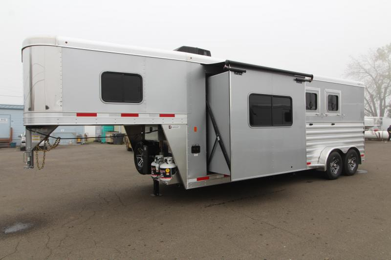2020 Exiss Trailers 7210 G - Escape Horse Trailer - All Aluminum Construction - 6' Slide-out - Easy Care Flooring