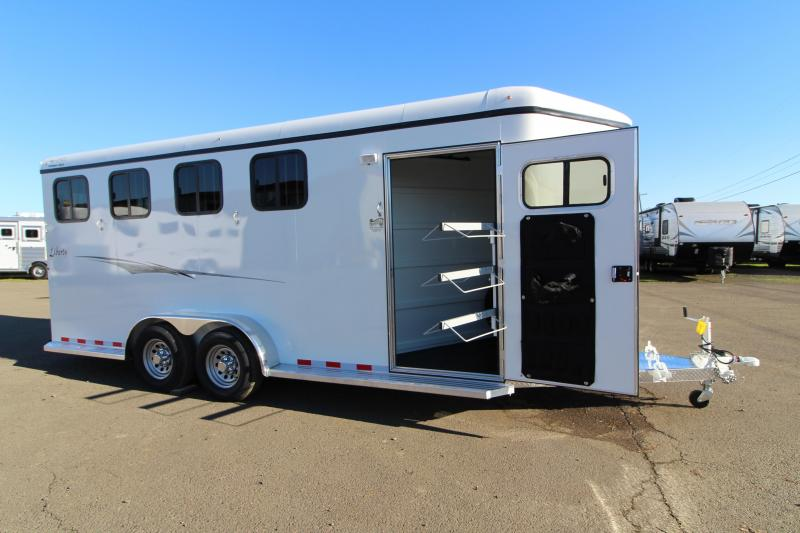 """2019 Thuro-Bilt 4 Horse Liberty Horse Trailer - 7'6"""" Tall - Double Wall Construction - Drop Down Windows - Water Tank- Swing Out Saddle Rack"""