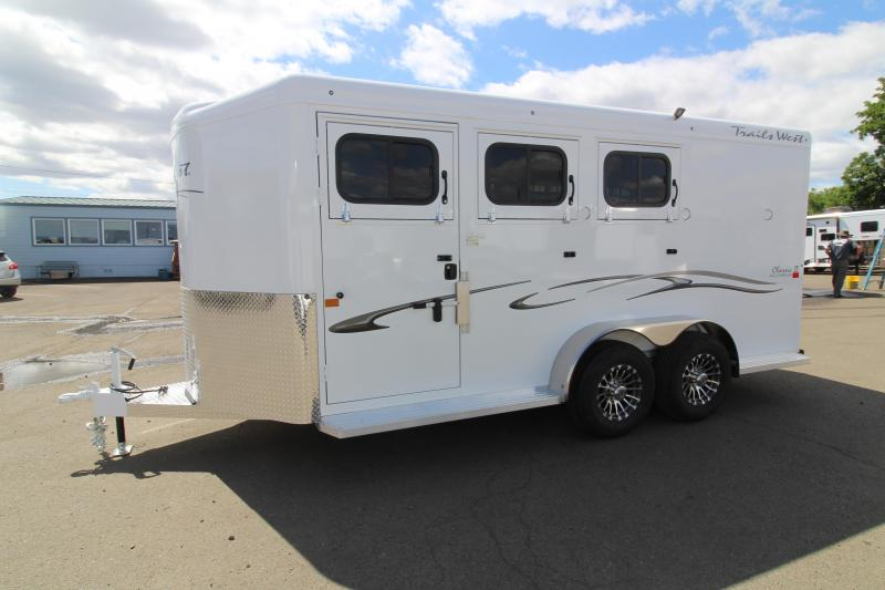 2020 Trails West Classic 3 Horse Trailer - Side Escape Door - Swing Out Saddle Rack - Convenience Package