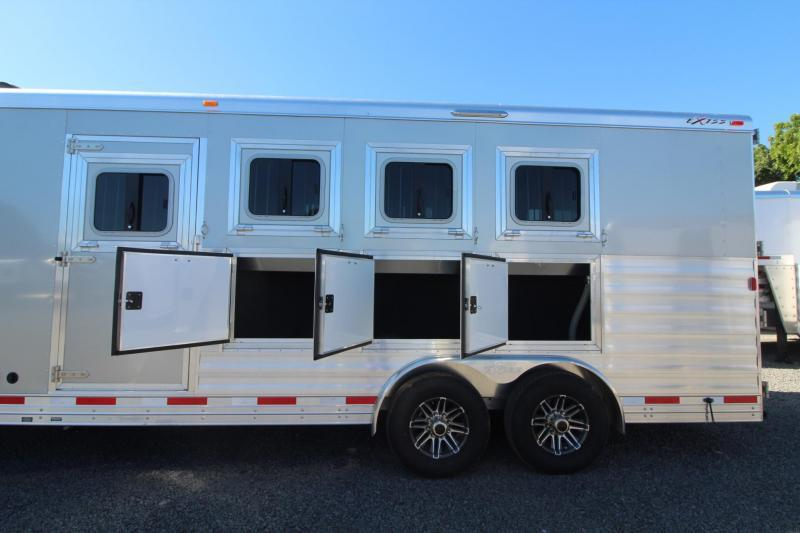 2018 Exiss Endeavor 8410 - 10' SW Living Quarters 4 Horse Trailer - Easy Care Flooring - All aluminum -Lined & Insulated Horse Ceiling PRICE REDUCED
