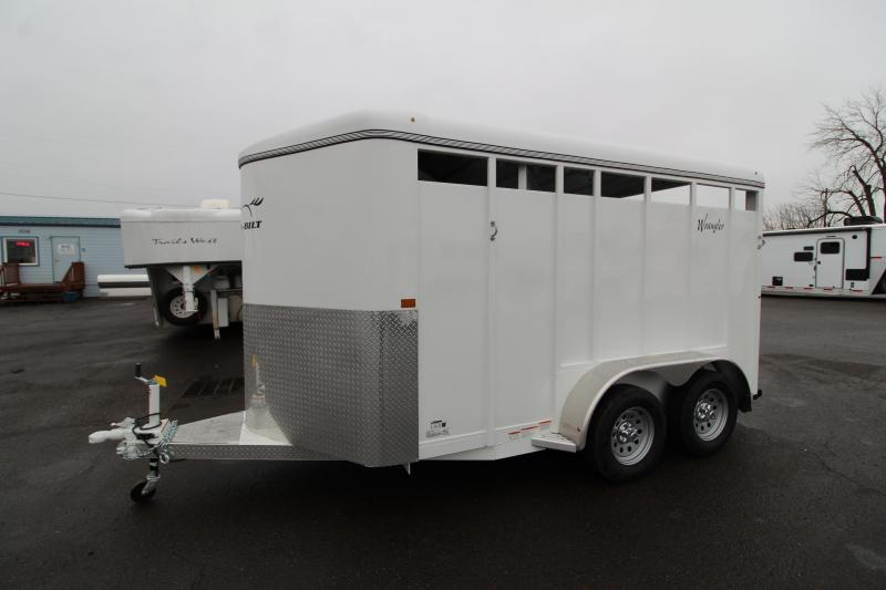2020 Thuro-Bilt Wrangler 2 Horse Trailer -  Removable Diagonal Wall - Single Rear Door - Swing Out Saddle Tree