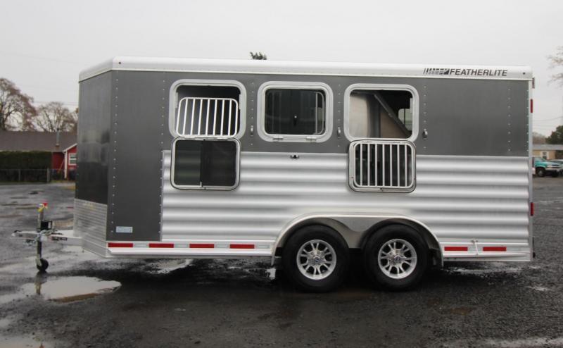 2020 Featherlite 7441 - 3 Horse w/ Rear Tack & Large Dressing Room Aluminum Trailer