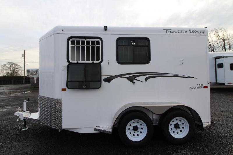 2020 Trails West Adventure MX II 2 Horse Trailer - Aluminum Skin