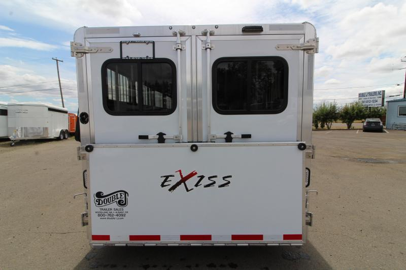 2020 Exiss Exhibitor 7024 Livestock Trailer - Removable 10 Pen System - Rear Ramp - Tack Room - Drop Down Windows - Escape Door - Pass Through Door