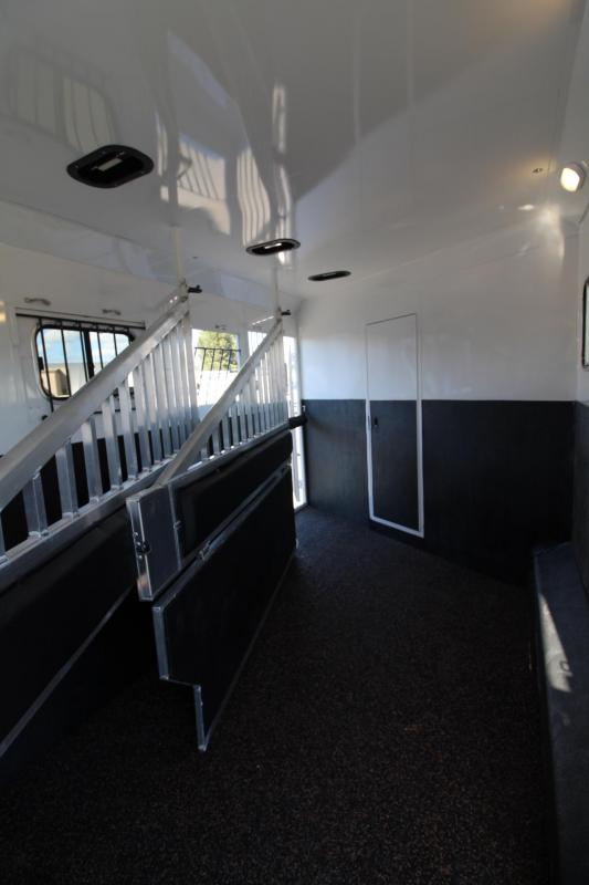 2020 Trails West Sierra 15x19 Living Quarters - Side Load 3 Horse Trailer HUGE Rear Tack - Hay Pod - Bunk Bed