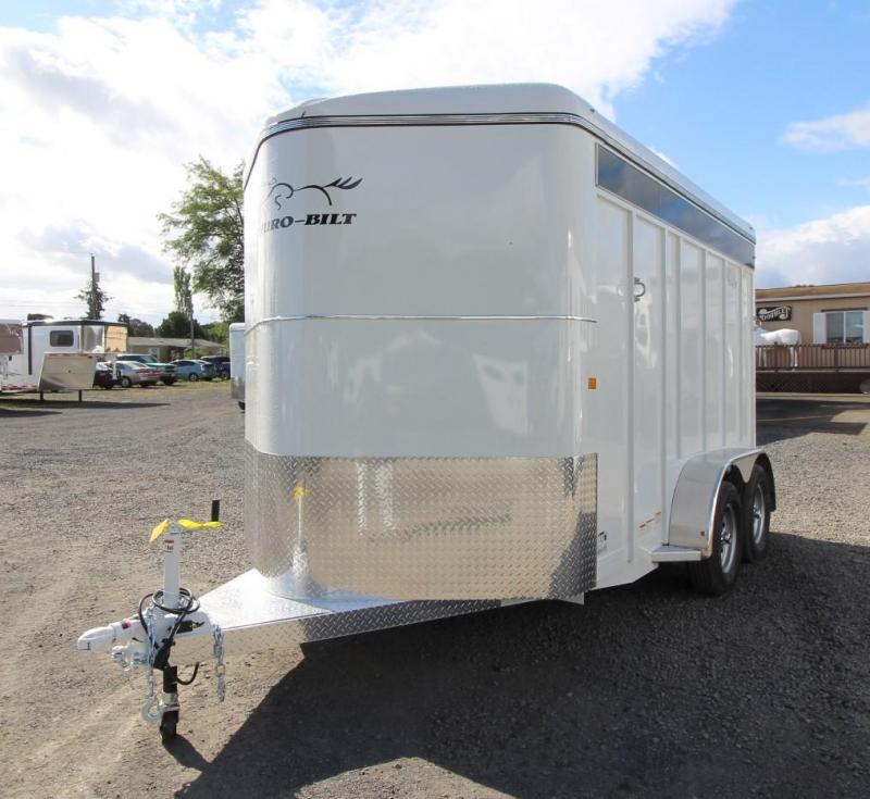 "2020 Thuro-Bilt Wrangler Plus 7' 6"" Tall 2 Horse Trailer w/ Plexi Glass - Swing Out Saddle Rack"