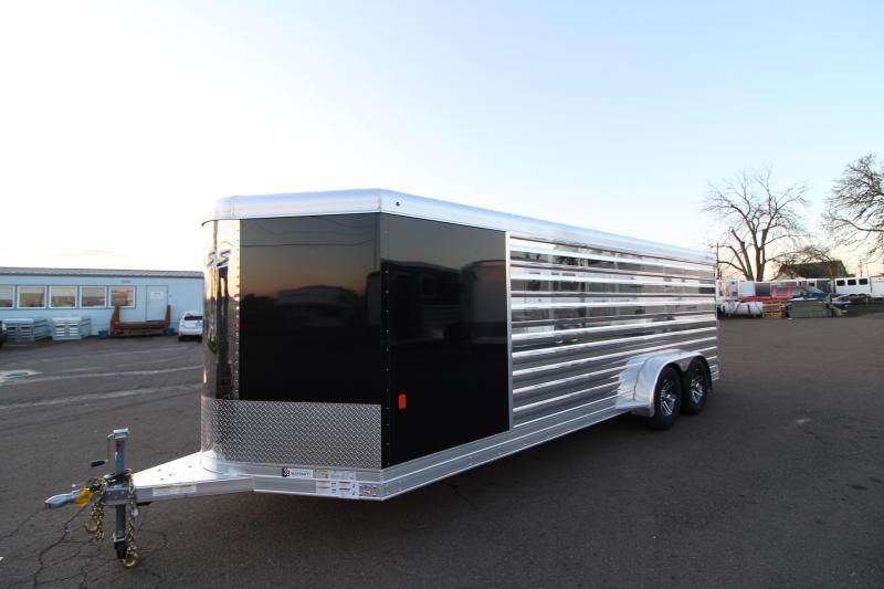 2020 Exiss Exhibitor 720A Livestock Trailer - Removable & Convertible Pen System - Air Gaps w/ Plexiglas - Tack Room - Rear Ramp