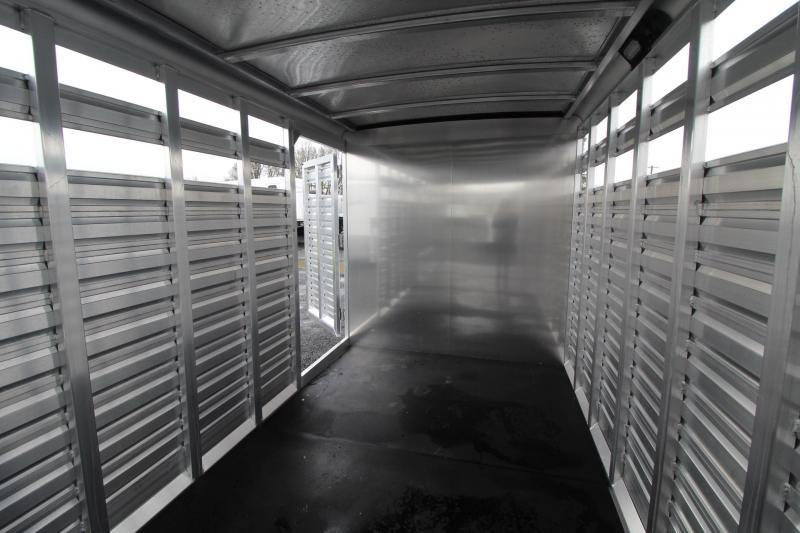 2019 Exiss STC 7024 - 24' Livestock Combo Trailer w/ Tack Room PRICE REDUCED $2075 - All Aluminum Construction -  One Piece Roof - Fully Sealed Tack Room