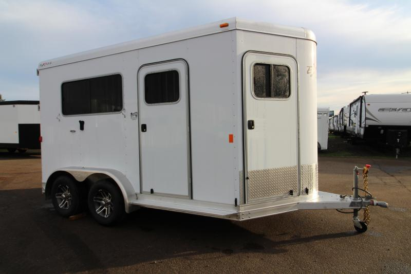 "NEW 2019 Exiss 722 Straight Load Horse Trailer -7'8"" Tall - 40"" Stall Width  Rear Ramp - All Aluminum"