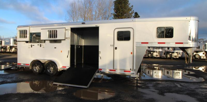 2020 Exiss 7200 SR 2+1 Straight Load w/ Box Stall & Side Ramp Warmblood Horse Trailer
